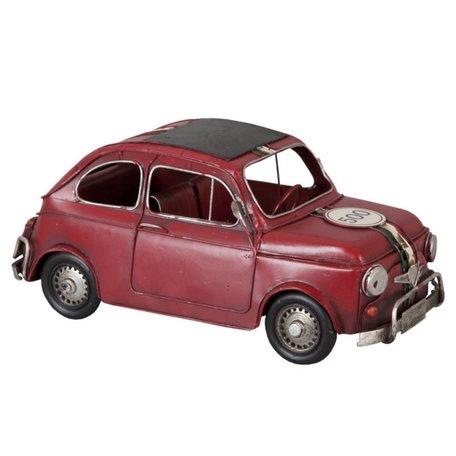 Modelauto Fiat 500 rood 6Y1098 | Clayre & Eef