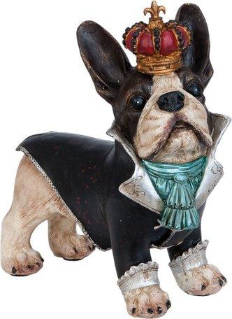 Decoratie  hond met kroon 25 x 25 cm | 6PR0920 | Clayre & Eef