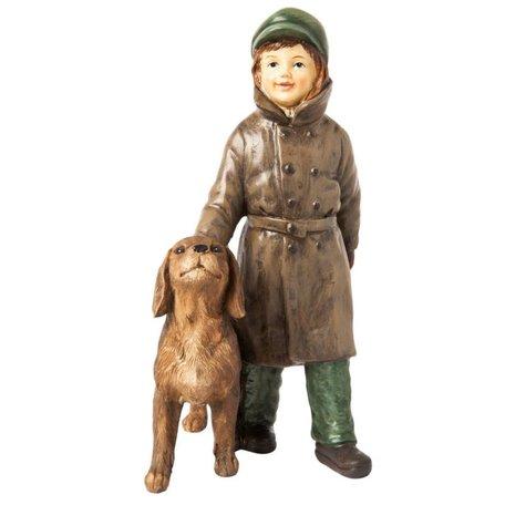 Beeld meisje met hond 19 x 11 cm | 6PR1137 | Clayre & Eef