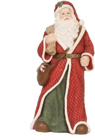 Beeld kerstman 26 x 15 cm   6PR0564   Kerst   Winter   Clayre & Eef