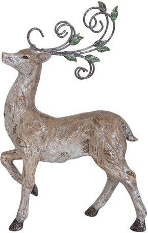 Decoratie hert staand | 6PR0828 | Winter & Kerst | Clayre & Eef