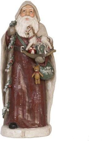 Beeld Kerstman 42 x 18 cm | 6PR0622 | Clayre & Eef