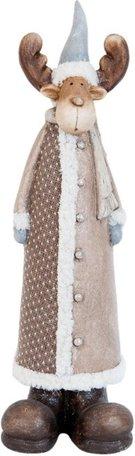 Beeld rendier met jasje 48 x 14 cm | 63478 | Clayre & Eef