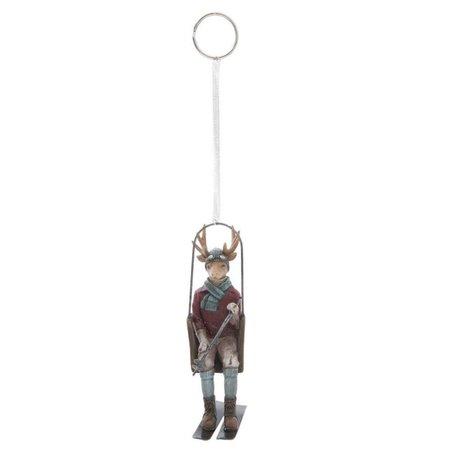 Hanger rendier in kabelbaan | 6PR1159 | Clayre & Eef