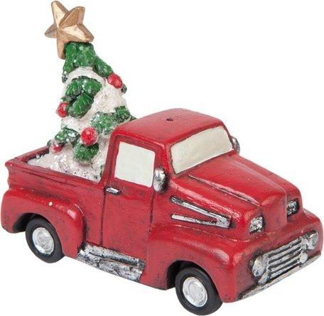 Auto met kerstboom 7 x 6 cm   6PR1181   Clayre & Eef