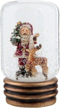 Sneeuwbol kerstman 9 x 14 cm   63788   Winter & Kerst   Clayre & Eef