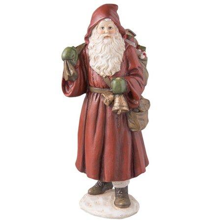 Kerstman met bel en cadeauzak   6PR2236   Clayre & Eef