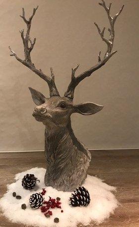 Decoratie rendier 43*31*73 cm Bruin | 5PR0048 | Clayre & Eef