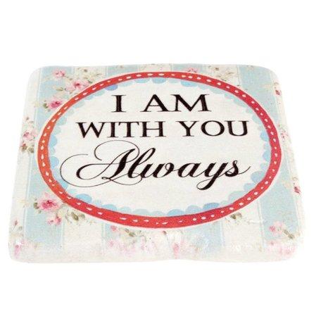 Onderzetter I am with you always |  PR1074 | Clayre & Eef