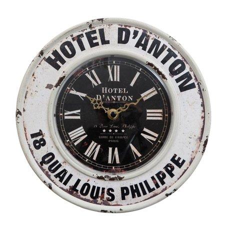 Klok wit ijzer Hotel D'Anton  | Clayre & Eef
