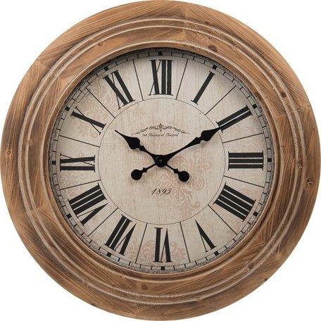 Klok houten rand Ø 67,5 cm | 5kl0119 | Clayre & Eef