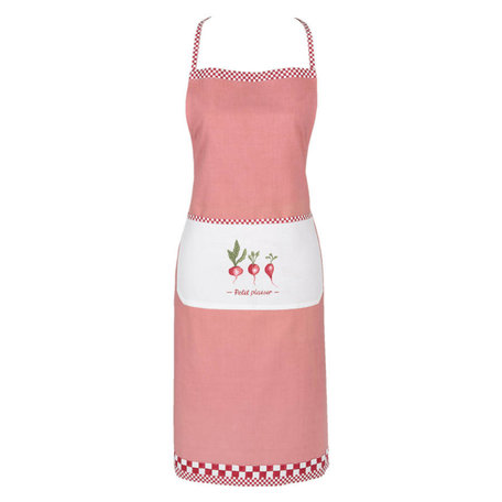Keukenschort roze radijsjes | PPL41 | Clayre & Eef