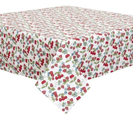 Tafelkleed 100 x 100 aardbeien | SAC01 | Clayre & Eef