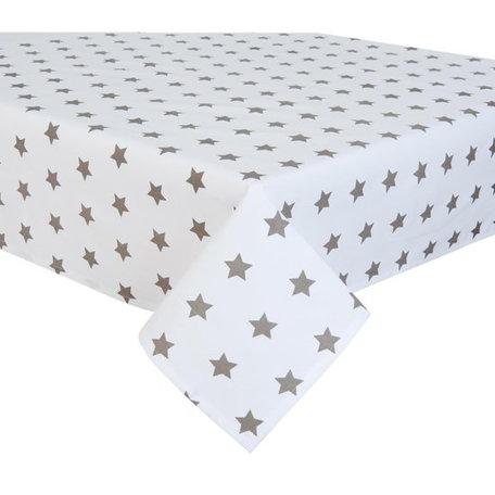 Tafelkleed 130 x 180 wit met ster | CAS03TP | Clayre & Eef