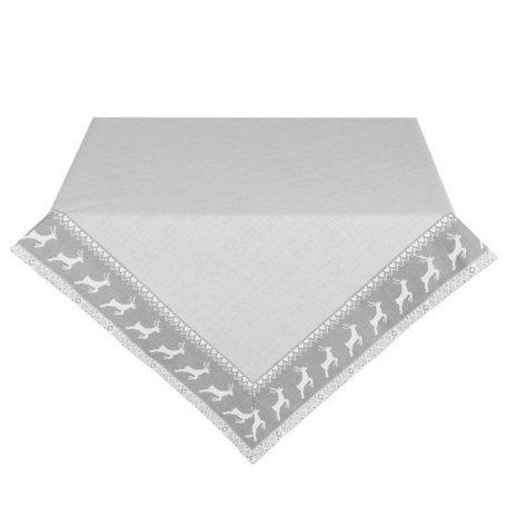 Tafelkleed 100 x 100 grijs rendier | NOG01 | Clayre & Eef