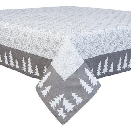 Tafelkleed kerst 130 x 180 grijs/wit | LSH.03 | Clayre & Eef