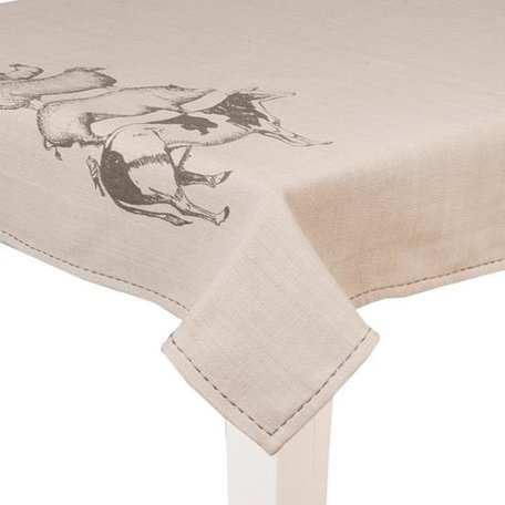 Tafelkleed 100 x 100 farm jute look  | DAF01 | Clayre & Eef