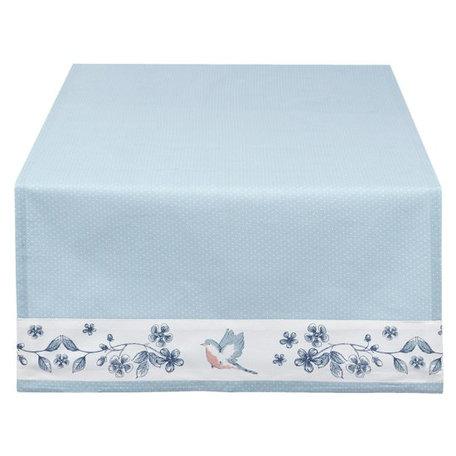 Tafelloper 50 x 140 blauw bloem | EBI64 | Clayre & Eef