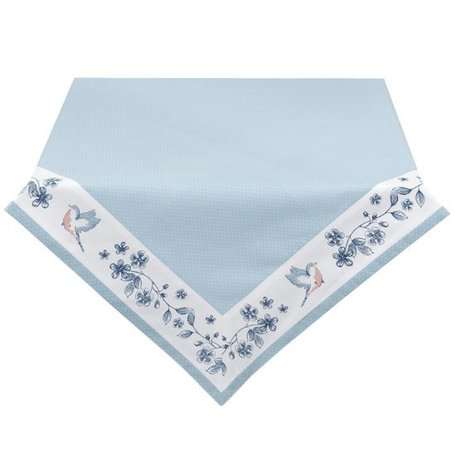 Tafelkleed 150 x 150 blauw met bloemen  | EBI015 | Clayre & Eef