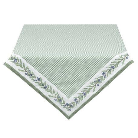 Tafelkleed 130 x 180 groen met olijftak  | OLG03GR | Clayre & Eef