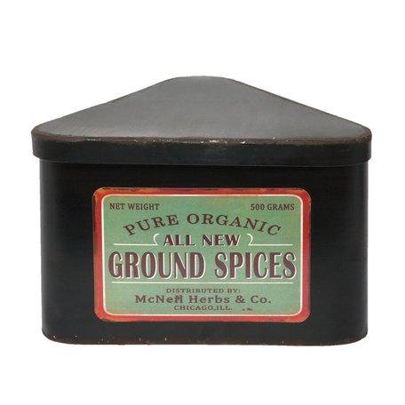 Opberg doos ijzer ground spices | Clayre & Eef