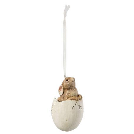 2 Stuks hanger konijn in ei | Clayre & Eef | Pasen