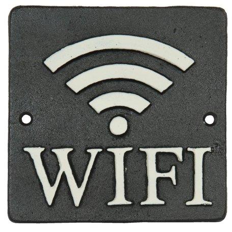 Metalen Wifi bordje 6Y1596 12 x 12 cm | Clayre & Eef