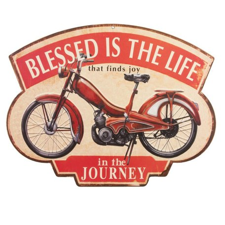 Tekstbord Blessed is the life | Clayre & Eef
