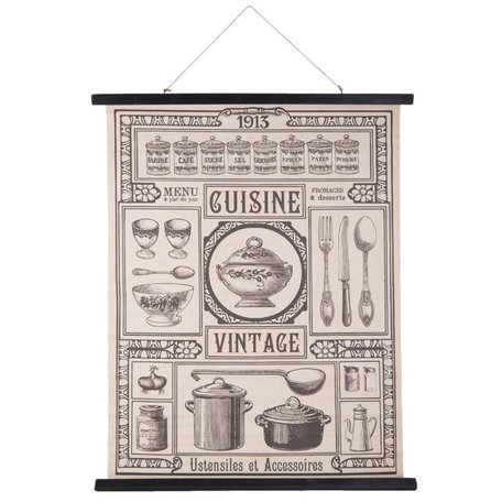 Wandkaart Cuisine Vintage | Clayre & Eef
