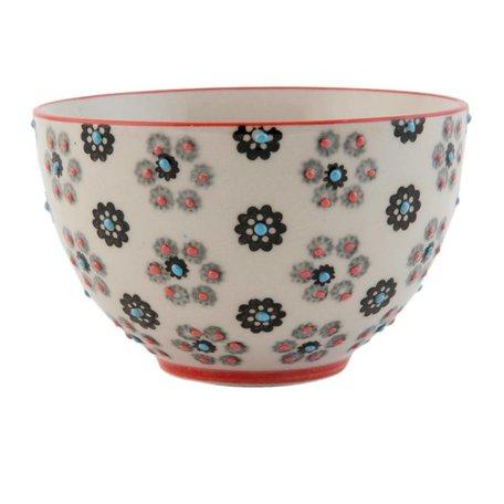 Kom / serveerschaal keramiek bloemen | Clayre & Eef