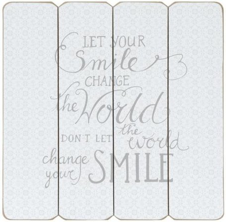 Tekstbord smile change the world | Clayre & Eef