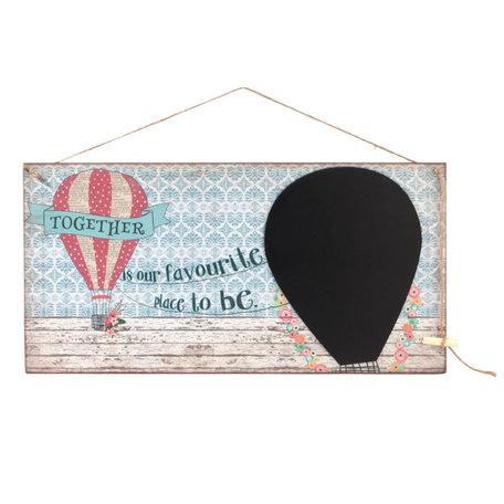 Tekst/krijt bord luchtballon | Clayre & Eef