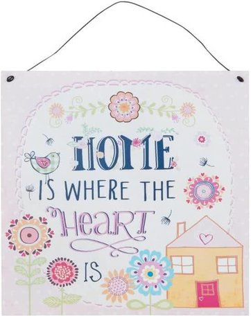 Tekstbord home is where the heart is | Clayre & Eef