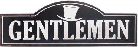Tekstbord Gentlemen ijzer | 6Y1810 | Clayre & Eef