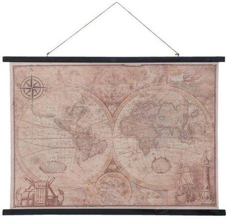 Wandkaart wereld 105 x 76 cm| 5WK0002 | Clayre & Eef