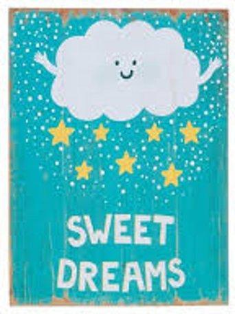 Schilderij / Houten bord sweet dreams | 6H1332 | Clayre & Eef