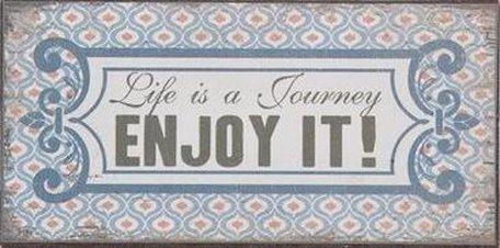 Tekst magneet Enjoy 5 x 10 cm | 6Y1930 | Clayre & Eef