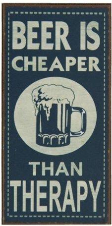Tekst magneet beer 5 x 10 cm | 6Y1565 | Clayre & Eef