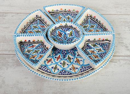 Tapas schaal Turquoise blue fine Ø 30 cm | TS.BC.35 | Dishes & Deco