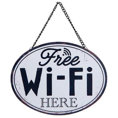 Tekstbord Wifi 17*13 cm  | 6Y2536 | Clayre & Eef
