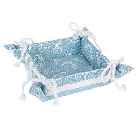 Broodmandje 35*35*8 cm Blauw   SES47BL   Clayre & Eef
