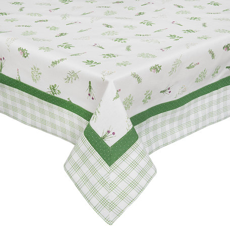 Tafelkleed 150*150 cm Groen | ROS15 | Clayre & Eef