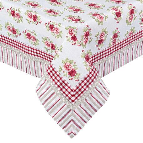 Tafelkleed 100*100 cm Rood | GAR01 | Clayre & Eef