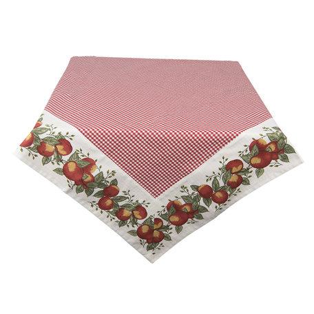 Tafelkleed 150*150 cm Rood | HGAP15 | Clayre & Eef