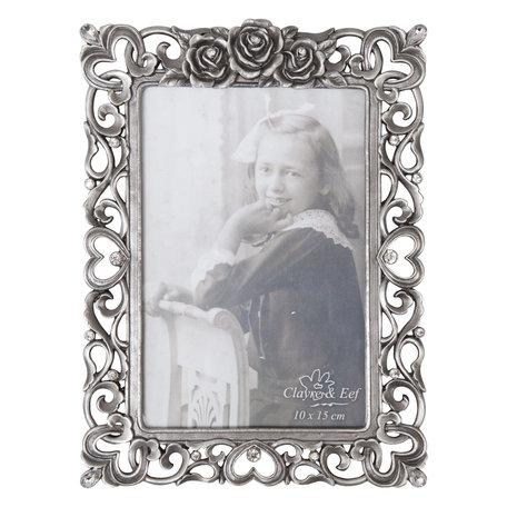 Fotolijst 14*20 cm / 10*15 cm Zilverkleurig | 2170 | Clayre & Eef