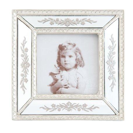 Fotolijst 17*2*17 cm / 10*10 cm Zilverkleurig | 2F0313 | Clayre & Eef