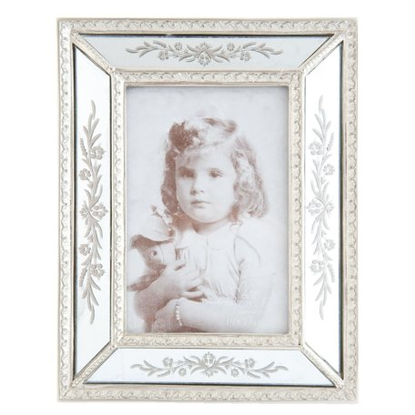Fotolijst 17*2*22 cm / 10*15 cm Zilverkleurig | 2F0314 | Clayre & Eef