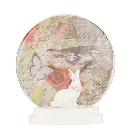 Decoratie globe ø 12*13 cm Creme | 62777 | Clayre & Eef