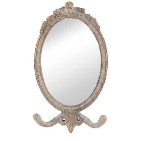 Spiegel 12*3*21 cm Grijs   62S081   Clayre & Eef