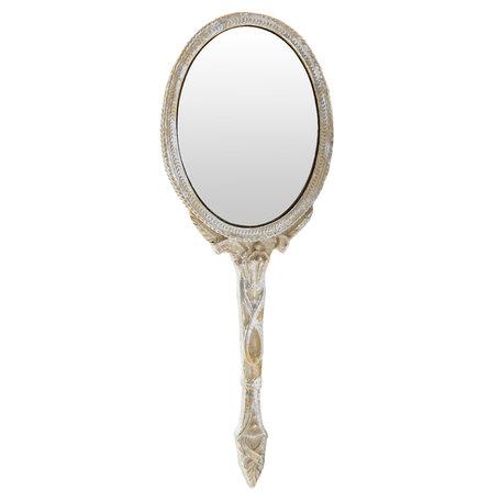 Spiegel 8*1*22 cm Goudkleurig   62S093   Clayre & Eef